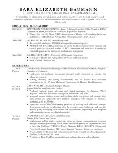 ResumeBaumannSara 06-30-2014