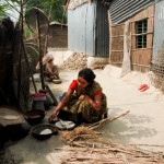 Sultana works hard to make a life for her family.