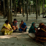 The women of the village gather together to discuss Hamida's daughters marriage.